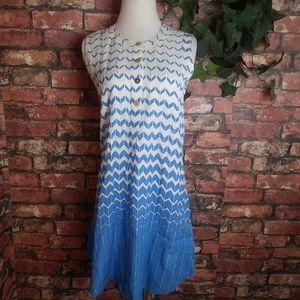 Julie Brown NYC Tencel Chevron pocket dress cutout